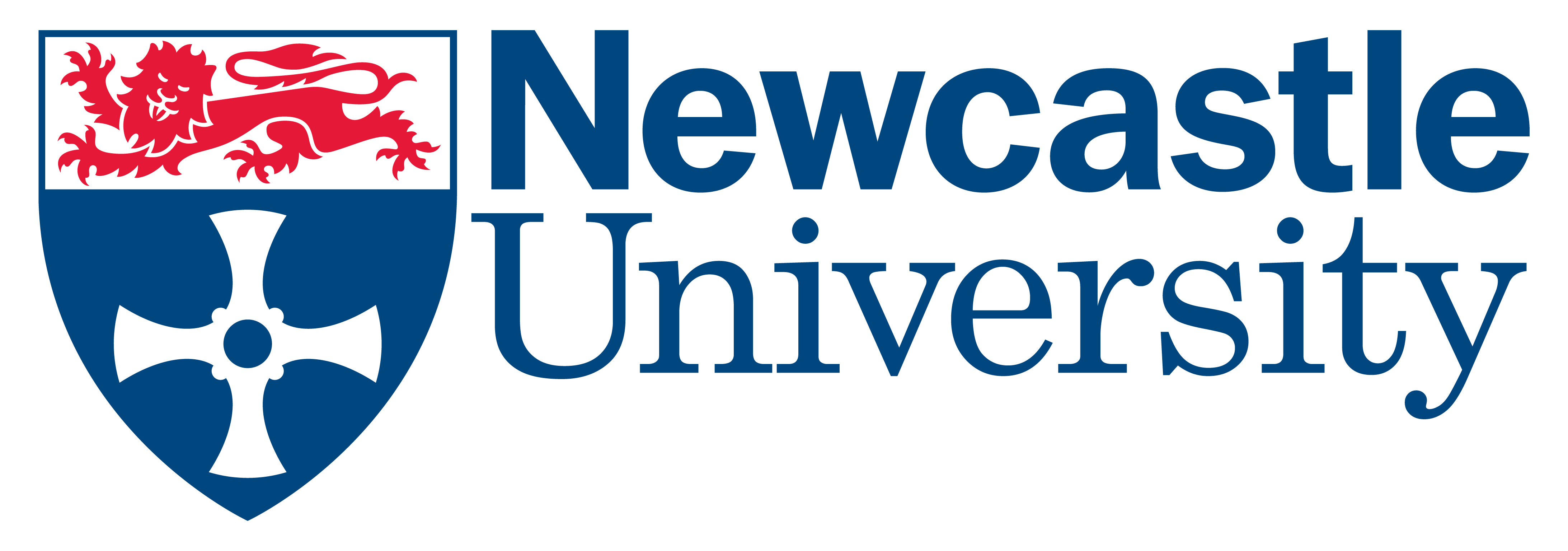 University Logo - NCL Uni blue ltrs on white bgr
